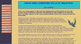 Caves of Malaysia, by Liz Price