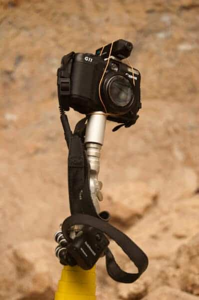 My pole photography setup using a Canon G11 and a carbon fibre pole