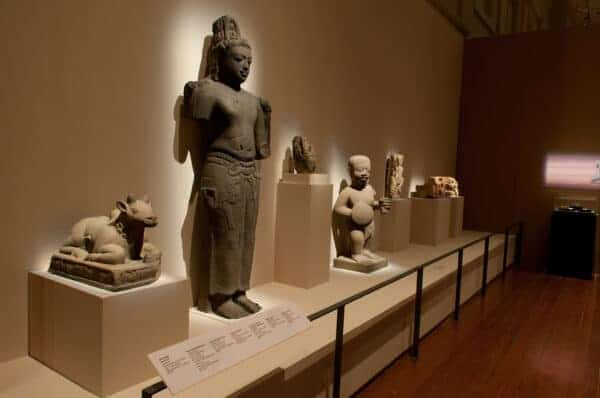 Sculpture showing Indian influences from the Sumatra: Isle of Gold exhibition