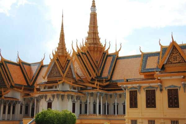 Exotic Khmer Architecture at the Royal Palace
