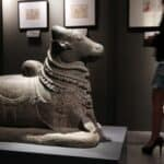 Sculpture of Nandi at the Asian Civilisations Museum. Straits Times 20140605