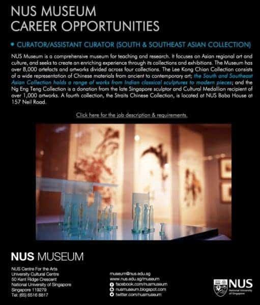 NUS Museum Curator position