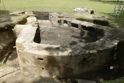 Unearthed bastion of Fort Tanjong Katong. Source: Going Places Singapore.