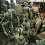 Seized trove of artefacts in Bangkok. Source: Bangkok Post 20141217
