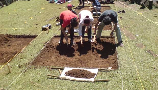 Archaeologists working at the Mosandurei  site in West Papua. Source: Tempo 20150329