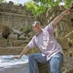 Archaeologist Damian Evans at Beng Melea. Source: Phnom Penh Post 20150428