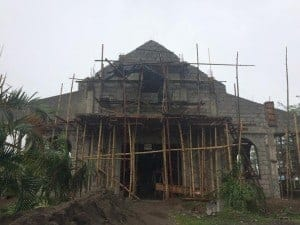 Priest defies orders and destroys 18th century church ruin with construction