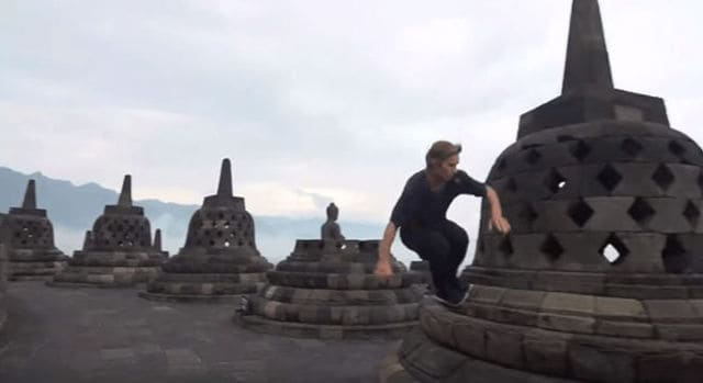 Red Bull apologises for desecrating Borobudur