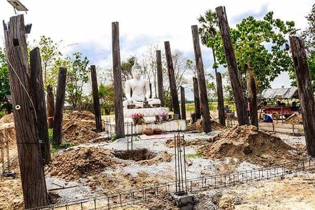 Villagers renovating long-abandoned temple in Nakhon Sawan