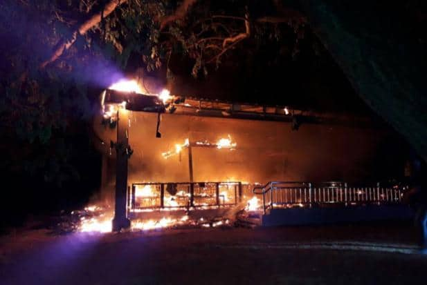 Fire guts building in Ayutthaya world heritage site | Bangkok Post: news