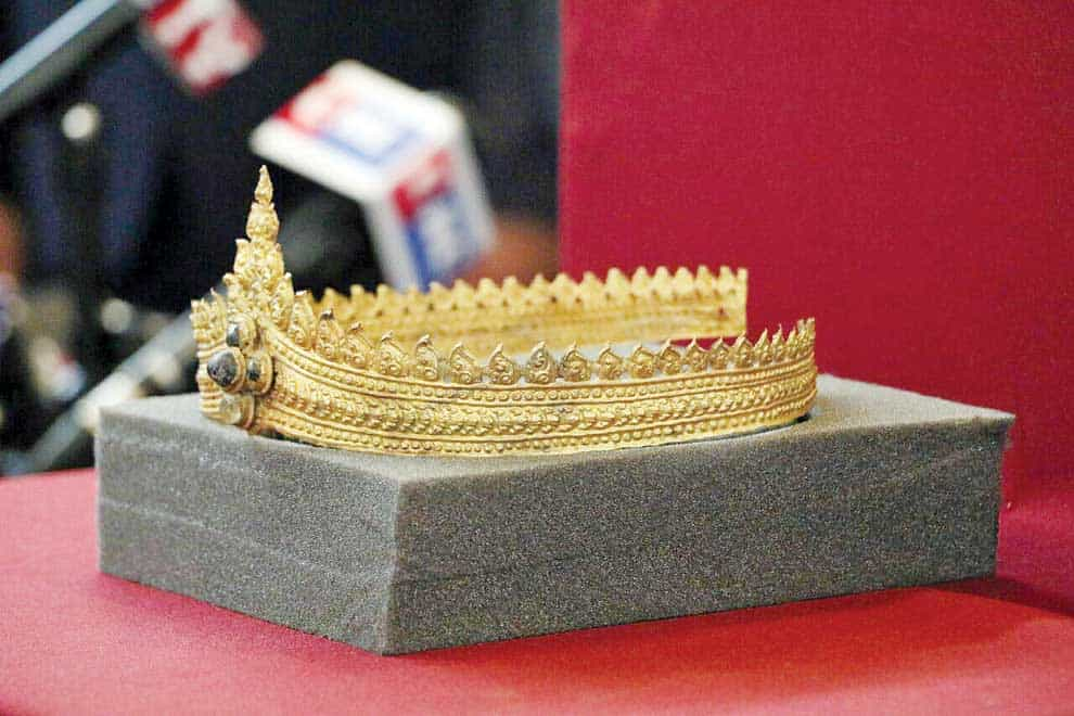 Angkor jewellery returned