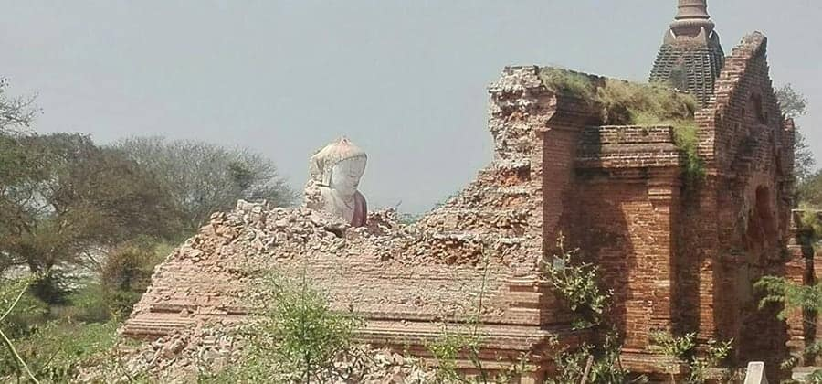 Bagan Temple Damaged in August Earthquake Collapses