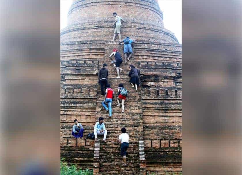 Locals have mixed reaction to Bagan's pagoda climbing ban