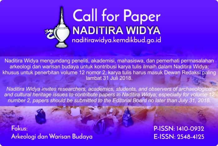 Call for Papers: Naditira Widya Journal