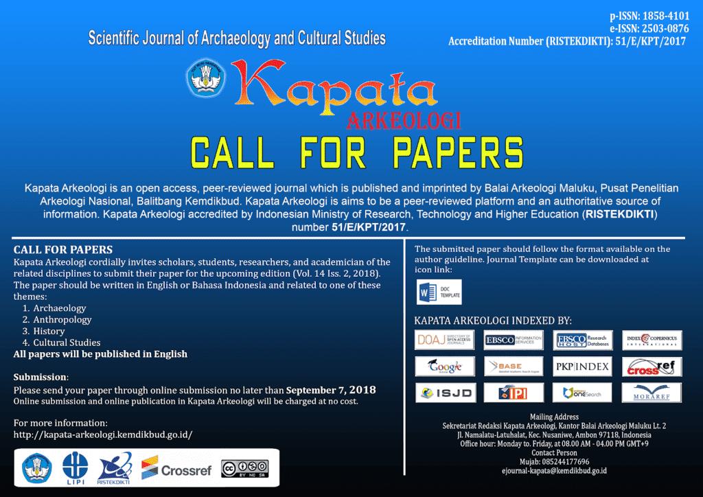 Kapata Arkeologi call for papers