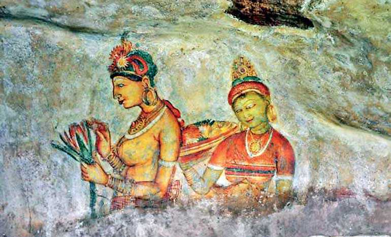 Sigiriya Frescoes. Source: FT Online, 20181020