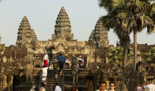 Tourists at Angkor Wat. Source: Khmer Times, 20190402