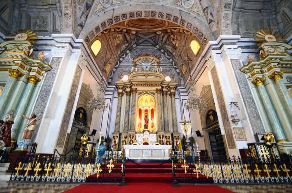 Interior of San Agustin Church of Intrmuros. Stock photo from Shutterstock