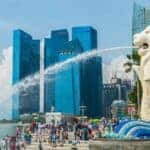 Merlion of Singapore. Stock photos from Shutterstock / AAR Studio