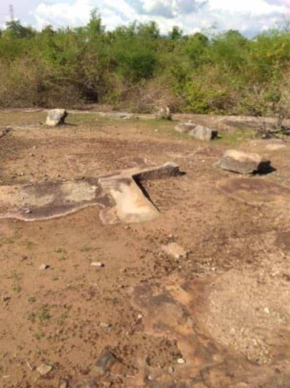 Stone basins(?) found in Champasak province. Source: Lao Daily, 20190606