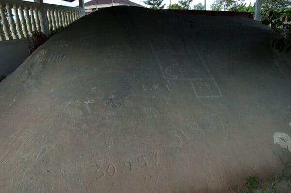 The Cherok Tok Kun inscribed boulder