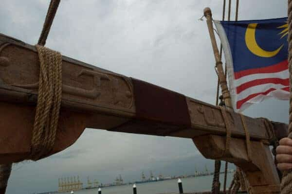 The crew carved the prayer 'Allah Akbar'; ('God is Great') along one of the mast's crossbeams.