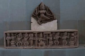 Durga and Lintel depicting Court Life