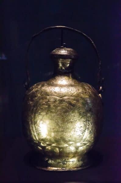 Gilded silver flask