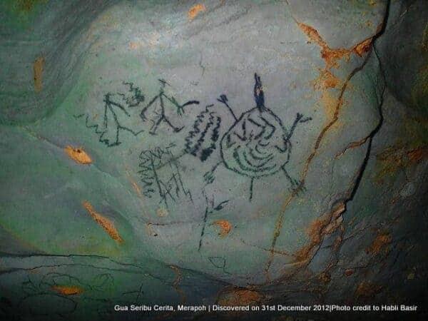 Rock art at Gua Seribu Cerita near Merapoh, Pahang. Photo: Habli Basir.