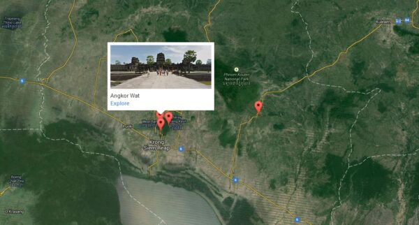 Google Street View for Angkor