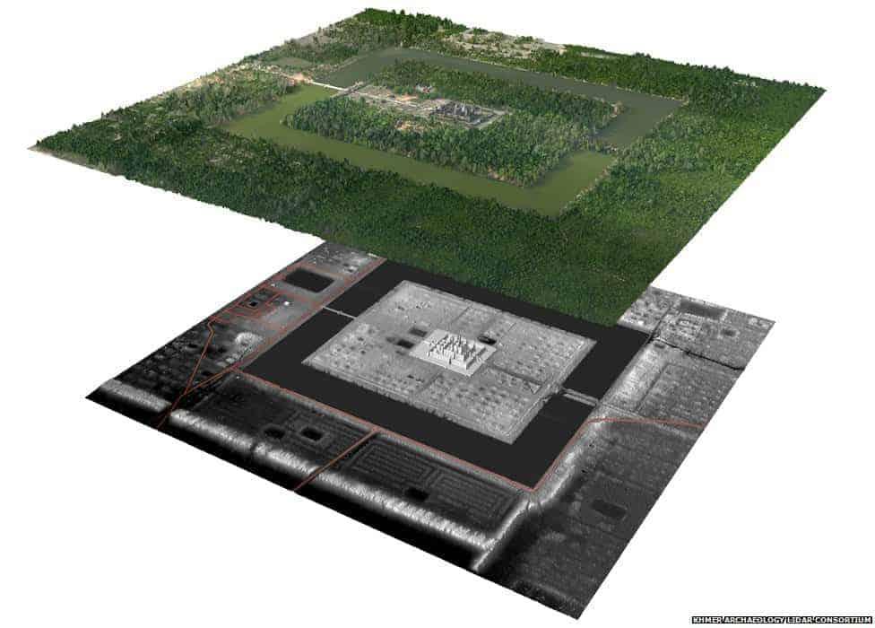 Angkor Wat Lidar Source: Khmer Archaeology Lidar Consortium