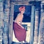 Topless woman at Banteay Kdei. Source: Phnom Penh Post 20150126