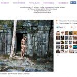 A new set of nude photographs taken in Angkor surfaces. Intentionally not linked to source.