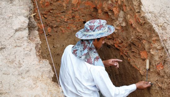 Excavation at the Choeung Ek kiln site. Source: Phnom Penh Post 20150214