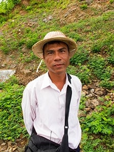 U Win Bo, the local villager who along with U Soe Naing brought our attention to the site