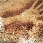 Hand stencil from Borneo