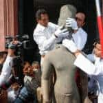 Statue of Harihara reintegrated. Source: Cambodia Daily 20160122