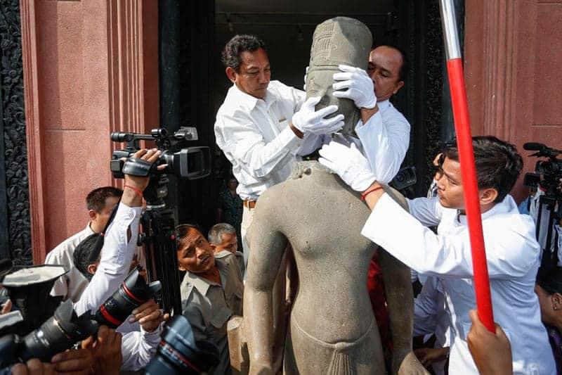 Statue of Harihara reintegrated. Source: Cambodia Daily 20160122