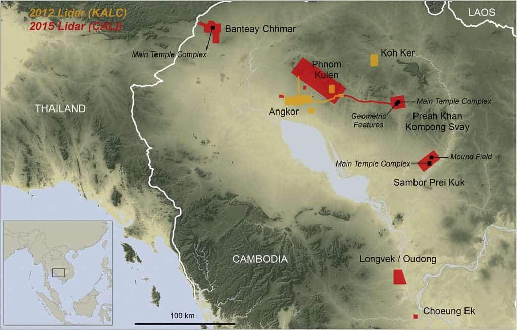 Areas scanned in 2012 and 2015. Source: Journal of Archaeological Science
