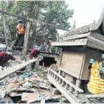 Demolition of houses near historic Bangkok Fort