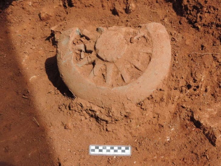 Dharmacakra excavated in Surat Thani