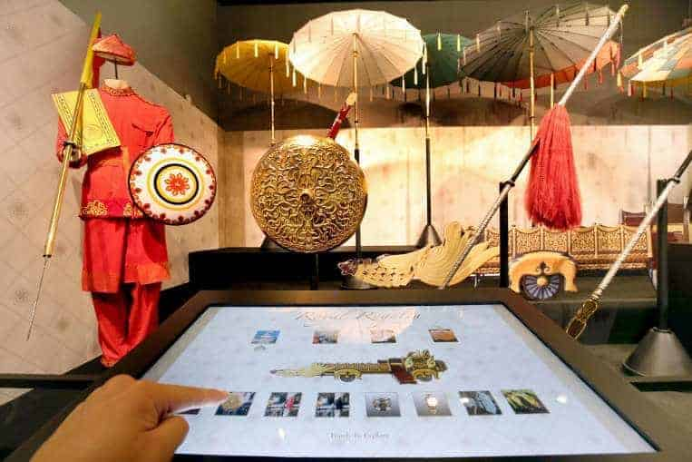 Exhibition featuring Brunei royal regalia and artefacts to celebrate friendship between Brunei and Singapore