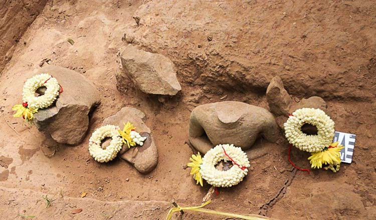 More Buddha sculptures found at Tonle Sngout site