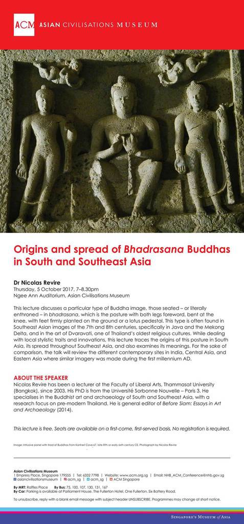 Lecture: Origins and spread of Bhadrasana Buddhas in South and Southeast Asia