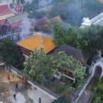 Fire damages four Wat buildings at historical Ayutthaya site