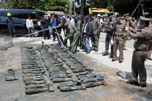 Cache of old practice bombs found in inner city