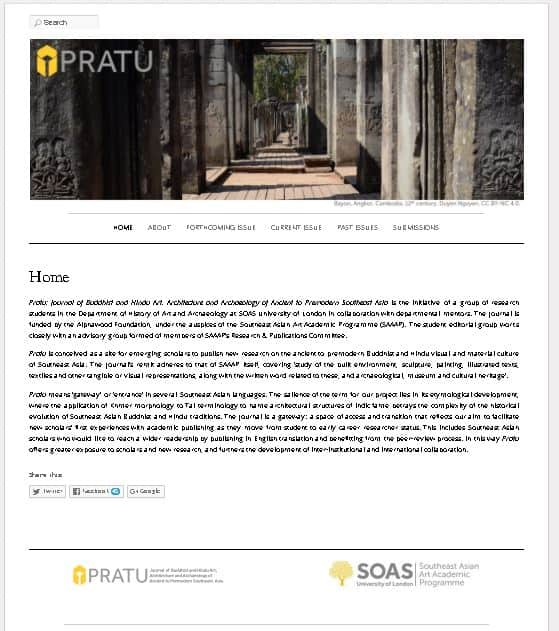 New Journal: Pratu – Journal of Buddhist and Hindu Art, Architecture and Archaeology of Ancient to Premodern Southeast Asia