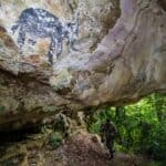 Ancient paintings found in Krabi cave