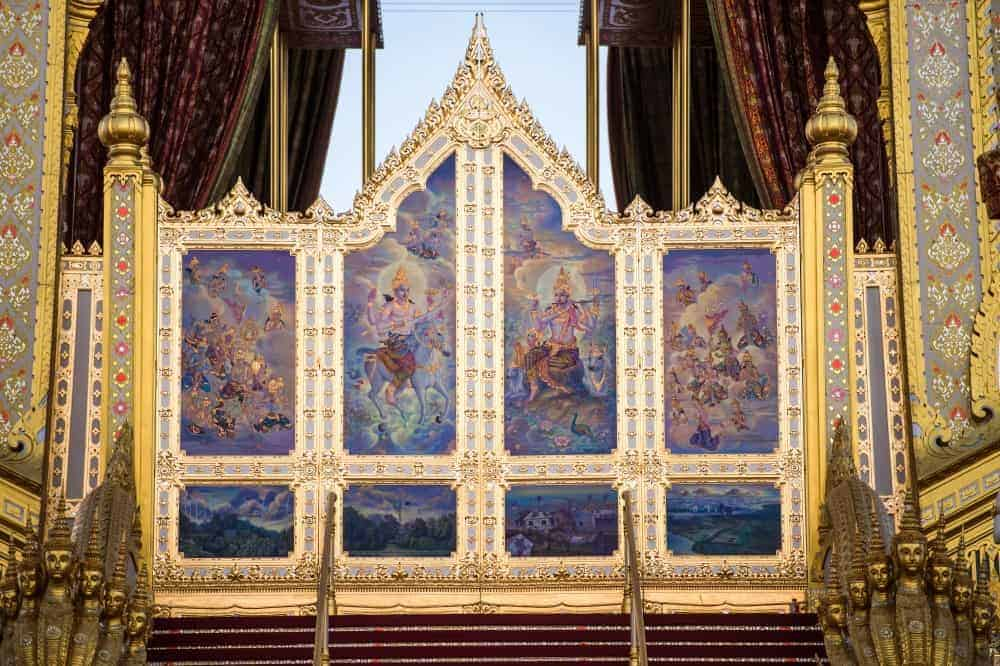 Features from Royal Crematorium divided, on display across country