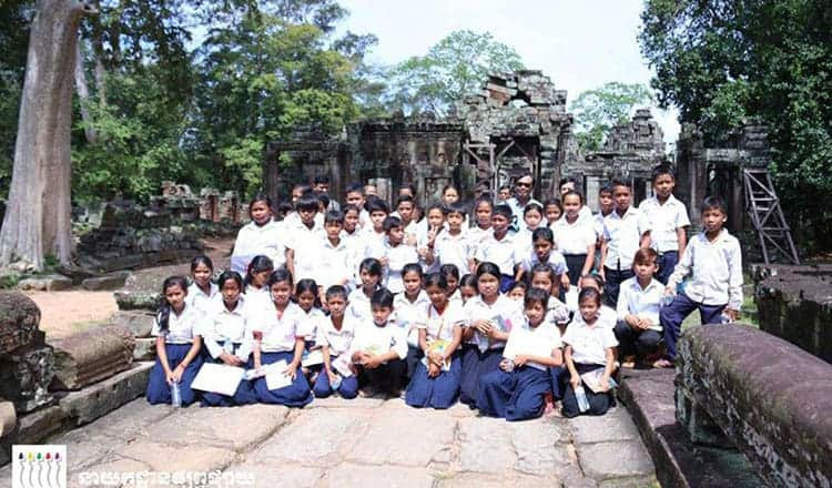 Heritage Education programme in Angkor. Source: Khmer Times 08 August 2018